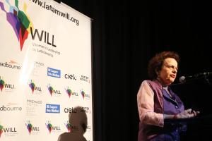Ministra Chefe Eleonora Menicucci, keynote do Liderança feminina gera lucro, no CCBB Brasilia