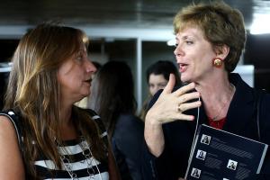 Daniela Carrera Marquis BID Brasil e a Embaixadora da Austria Marianne Feldman, durante o evento Liderança Feminina Gera Lucro, CCBB Brasilia