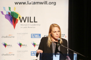 Silvia Fazio, presidente Will e sócia Chadbourne & Parke LLP, discursa durante o Lideranca Feminina gera Lucro Will Women in Leadership in Latin America, CCBB Brasilia